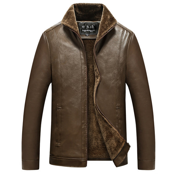 Men's Casual Fur Leather Jacket