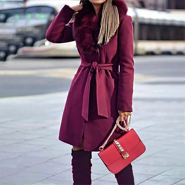 Women's simple solid color long coat
