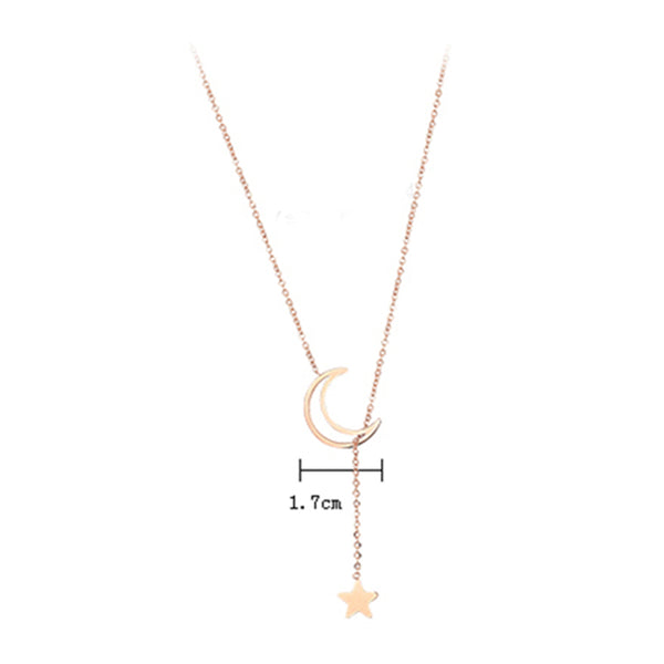 Fashion Simple Star Moon Necklace