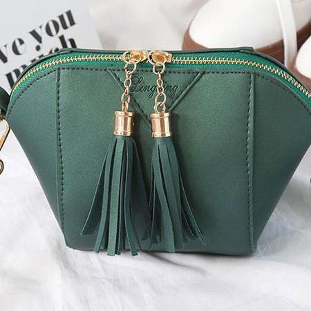 Decortive Tassel Plain Bag Clutches For Women