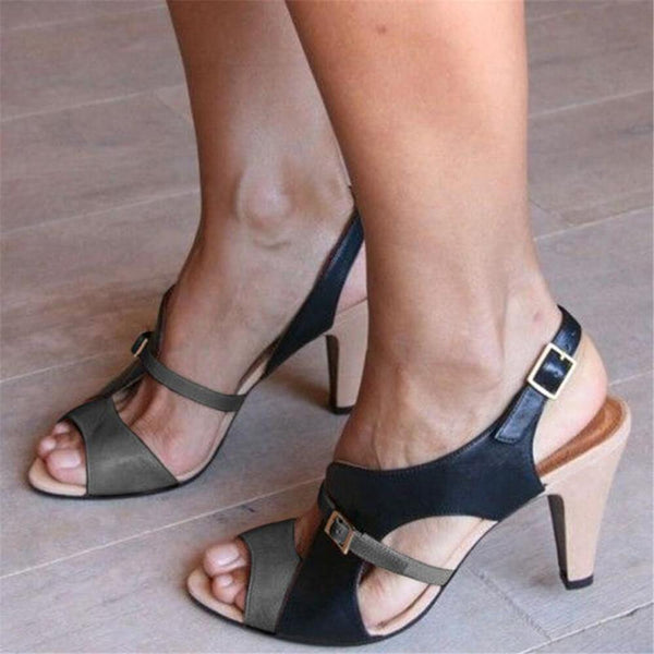 Fashion Casual Color Matching   High Heel Sandals