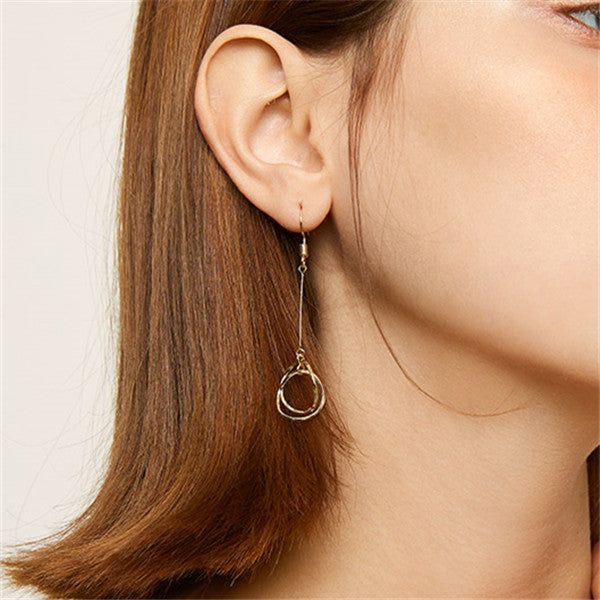 Fashion Simple Personality Ring Earrings