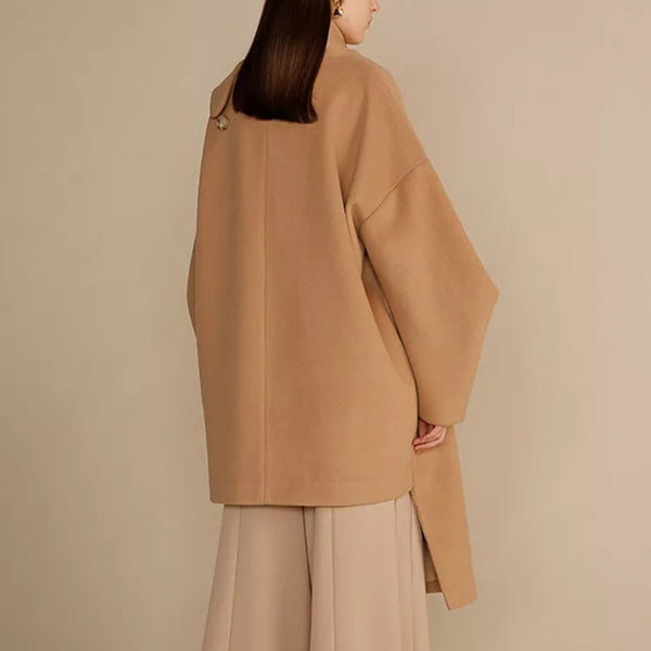 Irregular Fashion Design Stand Collar Coat