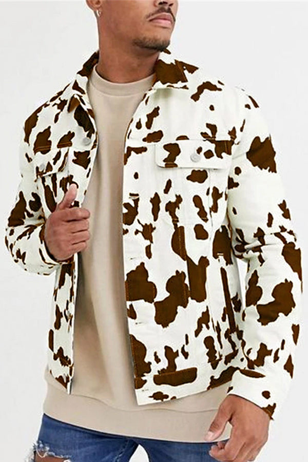 Men's Fashion Casual Print Jacket