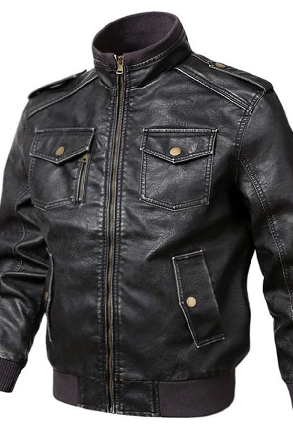 Fashion Casual Anti-Fan PU Leather Jackets