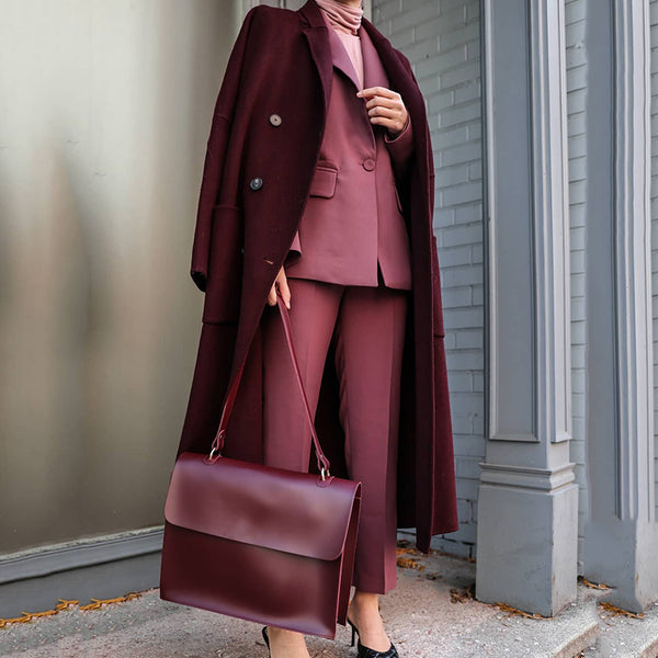 Women's fashion Breasted Lapel Coat