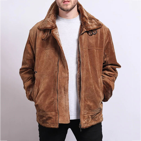 Men's Fashion Solid Color Long Sleeve Jacket