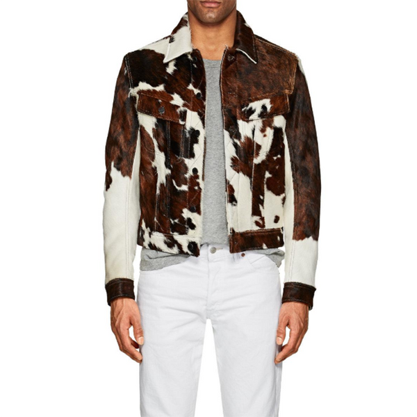Men's Vintage Single-breasted Long Sleeve Printed Color Coat