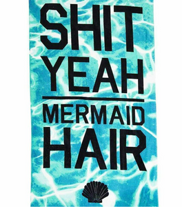 Authentic Typo Beach Towel (Mermaid Blue)