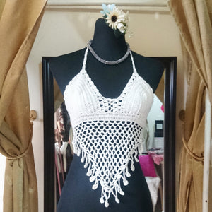 Fringed Bali Crocheted Top