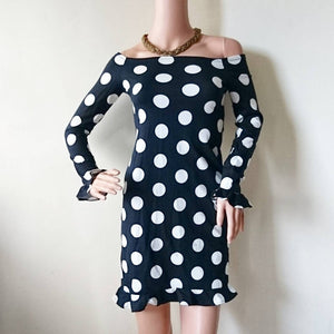 Polka flair sleeves bodycon