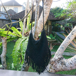 Alea Boho Crocheted Fringe Bag
