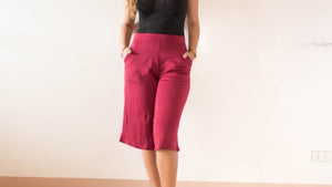 Cotton culottes with pockets (short)