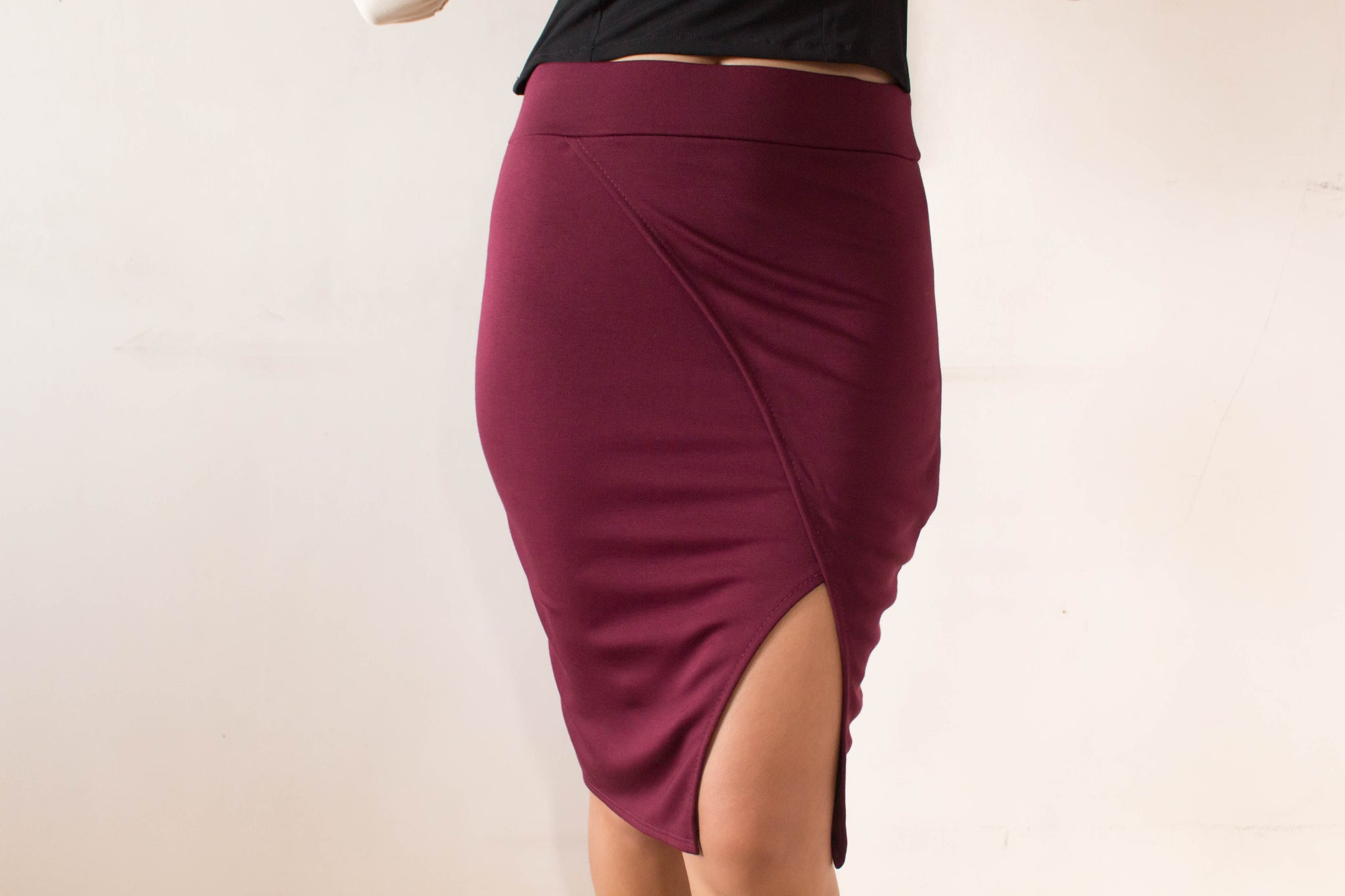 Nadine overlap pencil skirt