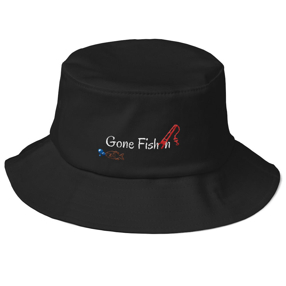 Gone fishin Old School Bucket Hat - FreedomDealz