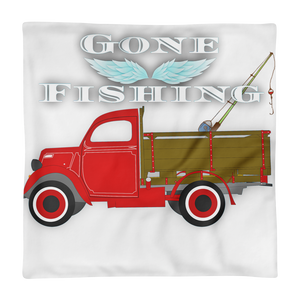 Gone Fishing  (Pillow Case only) - FreedomDealz