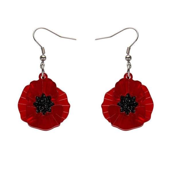 Poppy Field Drop Earrings
