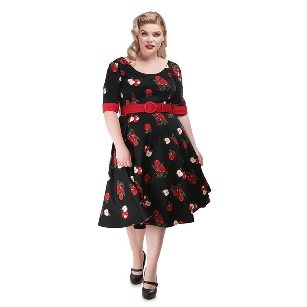 June Apple Swing Dress