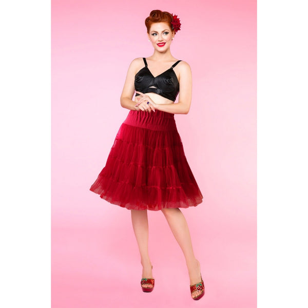 Flared Petticoat 58.5 cm/23 Inches in Burgundy