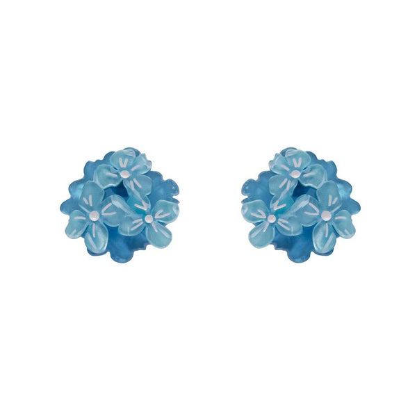 Heartfelt Hydrangea Earrings Blue