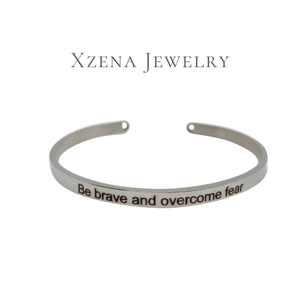 Be brave and overcome fear Armband Silber - Xzena