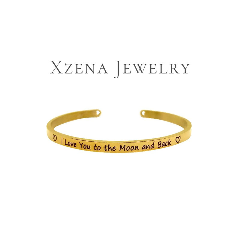I love you to the moon and back Gold - Xzena