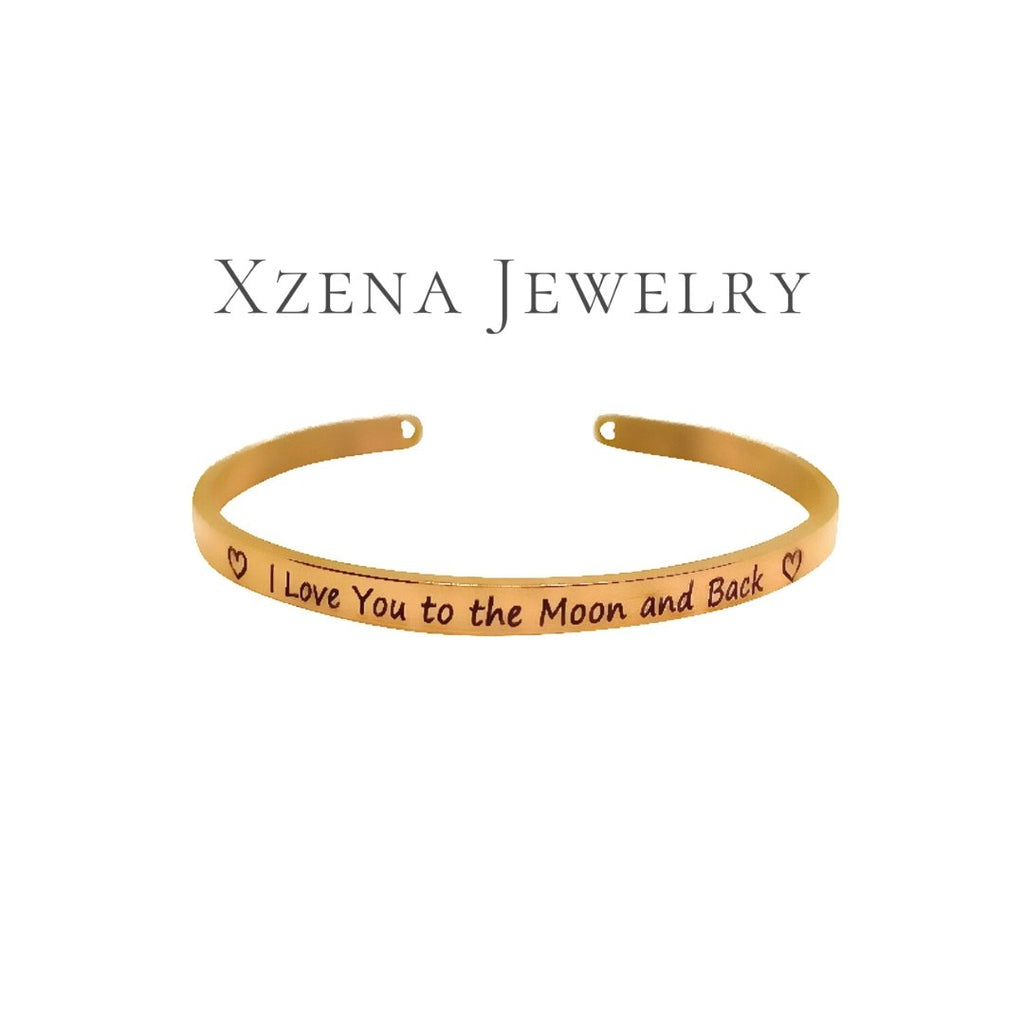 I love you to the Moon and back Rose Gold - Xzena