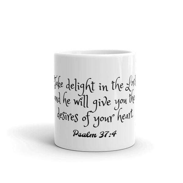 Psalm 37:4 Ceramic Coffee Mug