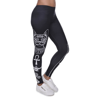Spiritual Cat Yoga Leggings