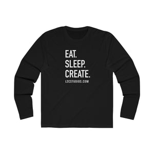 Eat Sleep Create Long Sleeve Crew Tee