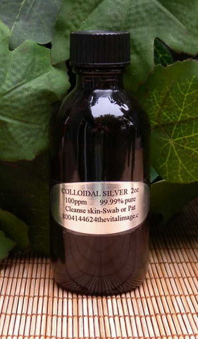 Colloidal Silver, 2 oz.  Calms skin, excellent for acne, irritation, rashes and infections.