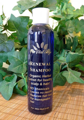 Renewal Shampoo, 8 oz.  Thoroughly clean hair and scalp, reduce hair loss, enjoy beautiful, healthy, manageable hair.