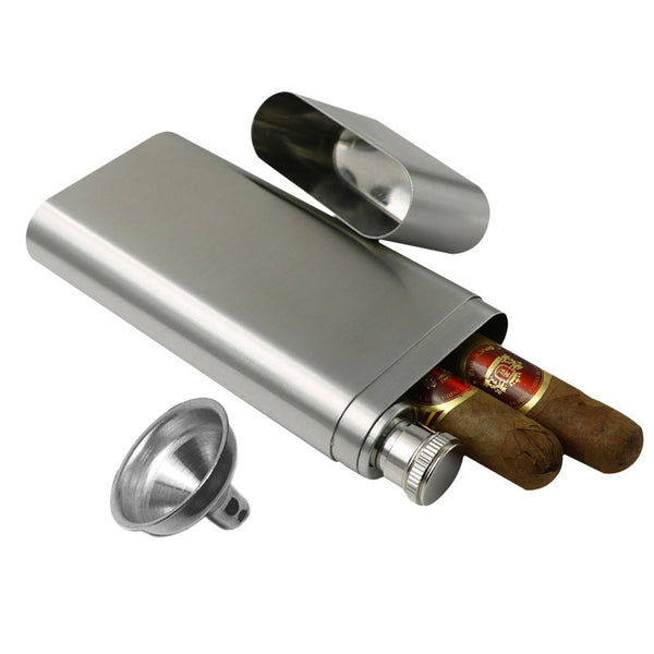 Whiskey & Two Cigar Flask