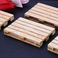 Mini Pallet Wooden Drink Coasters - 4pcs
