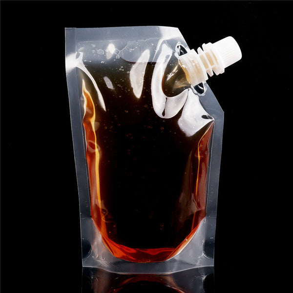 9 Pcs Plastic Reusable Liquid Pouches
