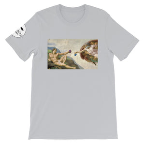The Crimp of Adam Unisex T-Shirt - Rock Climbing Renaissance