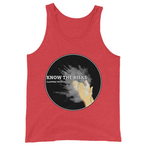 Clapping with Chalk Unisex Tank Top - Rock Climbing Renaissance