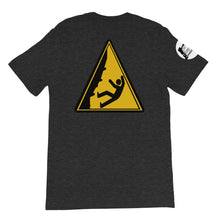 Load image into Gallery viewer, Caution! Falling Rock Climbers Unisex T-Shirt - Rock Climbing Renaissance
