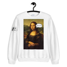 Load image into Gallery viewer, Mona LiSend It Unisex Sweatshirt - Rock Climbing Renaissance