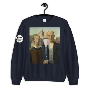 Farmer and His Brush Unisex Sweatshirt - Rock Climbing Renaissance