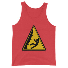 Load image into Gallery viewer, Caution! Falling Rock Climbers Unisex Tank Top - Rock Climbing Renaissance