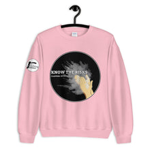 Load image into Gallery viewer, Clapping with Chalk Unisex Sweatshirt - Rock Climbing Renaissance