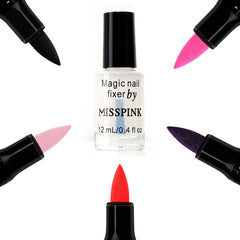 5 Magic Nail Pen + Fixer Oil - Miss Pink USA