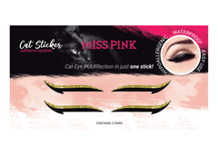 Cheetah Babe (9) CAT STICKER - ADHESIVE EYELINER - Miss Pink USA