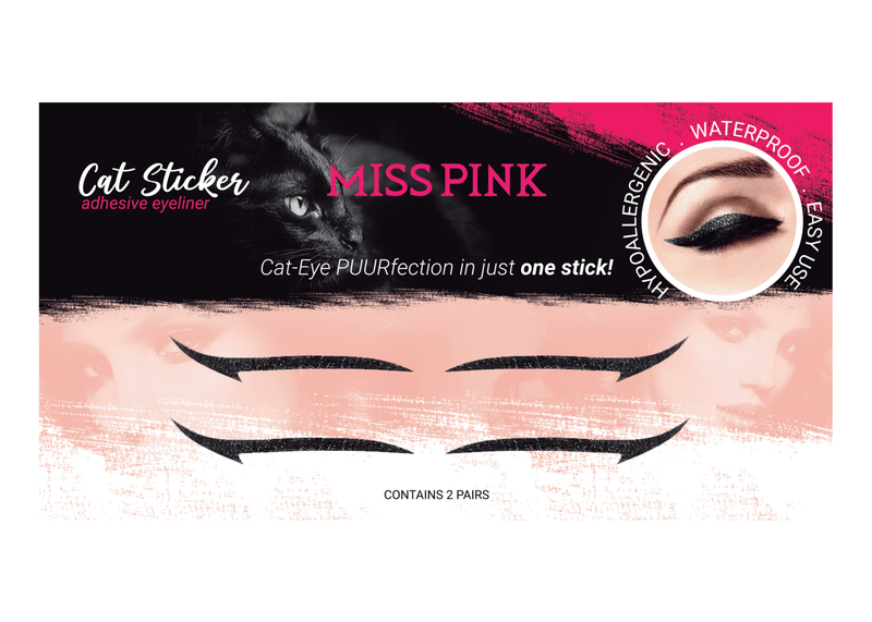 Feline Fantasy (4) - CAT STICKER - ADHESIVE EYELINER - Miss Pink USA