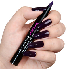 Glam Purple - Magic Nail Pen - Polish Pen - Miss Pink USA