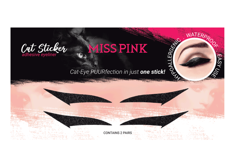 King Kitty (10) - CAT STICKER - ADHESIVE EYELINER - Miss Pink USA