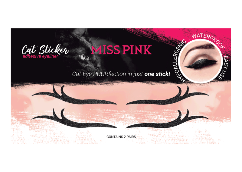 Leo Girl (7) - CAT STICKER - ADHESIVE EYELINER - Miss Pink USA