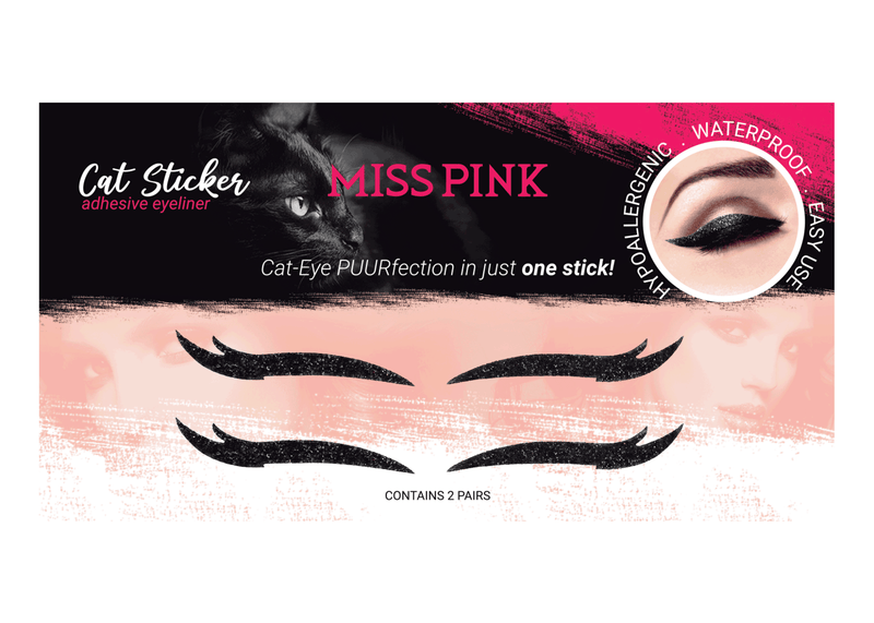 Lioness (3)- CAT STICKER - ADHESIVE EYELINER - Miss Pink USA