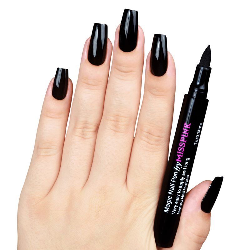 Power Black - Magic Nail Pen - Polish Pen - Miss Pink USA